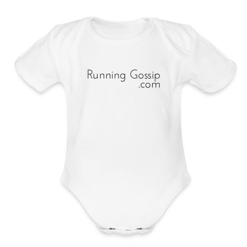 Running Gossip Merch - Organic Short Sleeve Baby Bodysuit