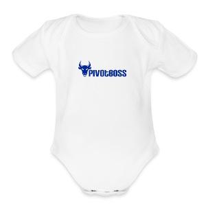 PivotBoss Cobalt Logo - Short Sleeve Baby Bodysuit