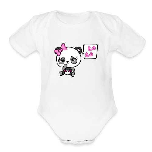 Pinkie Pinky Panda La La - Organic Short Sleeve Baby Bodysuit