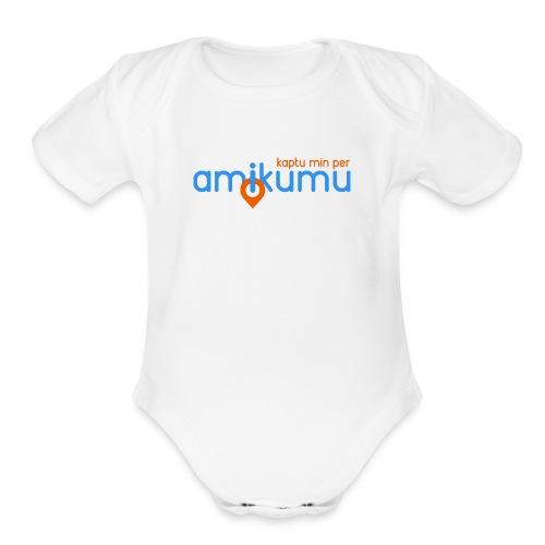Kaptu min per Amikumu Blua - Organic Short Sleeve Baby Bodysuit