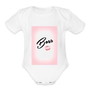 Boss look - Short Sleeve Baby Bodysuit