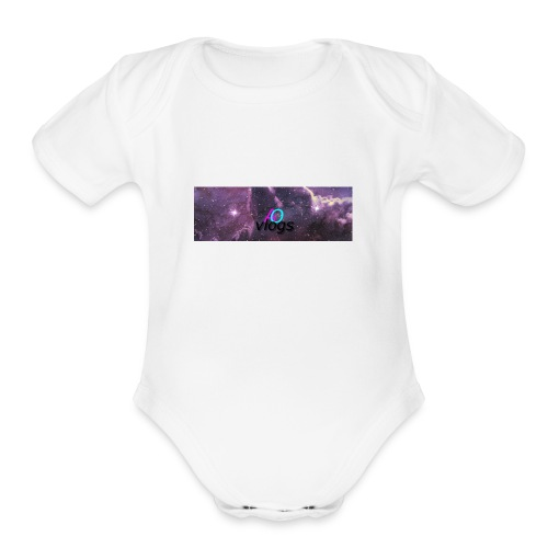 space 03 - Organic Short Sleeve Baby Bodysuit