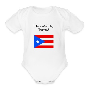 Heck of a job trumpy - Short Sleeve Baby Bodysuit