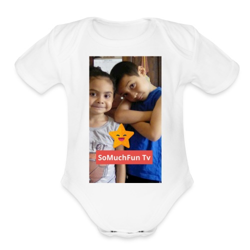 SoMuchFun tv be a star - Organic Short Sleeve Baby Bodysuit