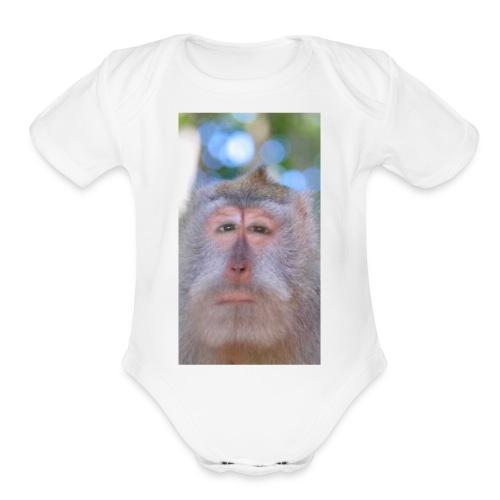 Monkeying Around - Organic Short Sleeve Baby Bodysuit