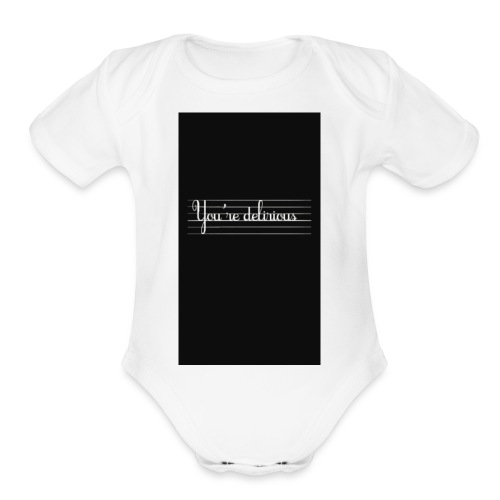 YOURE DELIRIOUS SHORT SLEEVE SHIRT - Organic Short Sleeve Baby Bodysuit