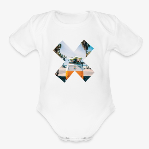 surf's up - Organic Short Sleeve Baby Bodysuit
