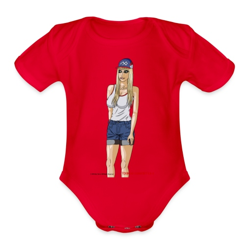 Gina Character Design - Organic Short Sleeve Baby Bodysuit