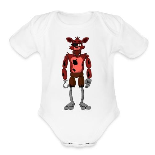cool foxy 5.0.2 mrech - Organic Short Sleeve Baby Bodysuit