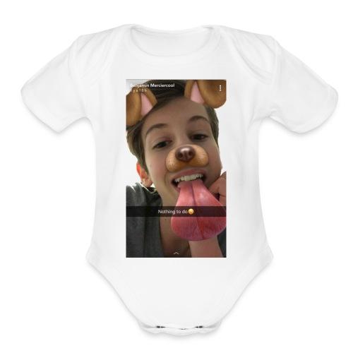 IMG 1526 - Organic Short Sleeve Baby Bodysuit