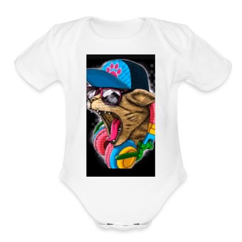 1283 - Organic Short Sleeve Baby Bodysuit