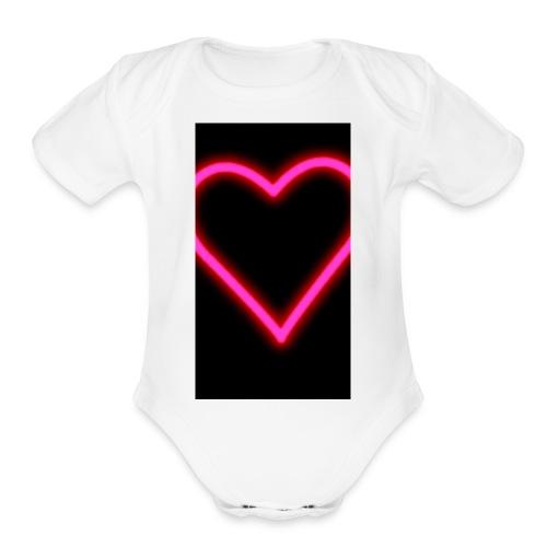 Snapchat 💕 - Organic Short Sleeve Baby Bodysuit