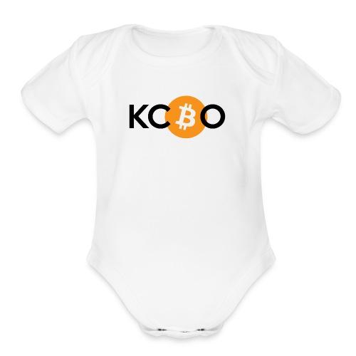 kcbo logo light - Organic Short Sleeve Baby Bodysuit