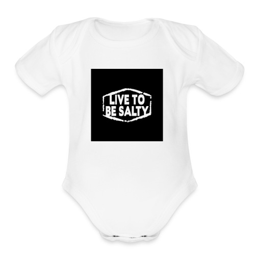 Luve to be salty merch - Organic Short Sleeve Baby Bodysuit