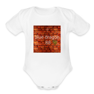 Blue dragon 88 - Short Sleeve Baby Bodysuit