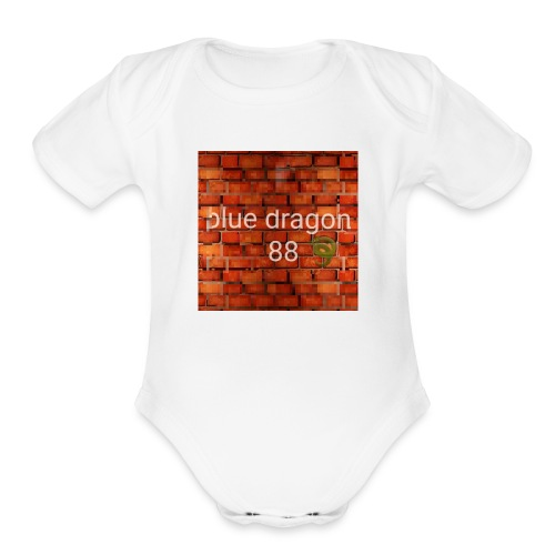 Blue dragon 88 - Organic Short Sleeve Baby Bodysuit