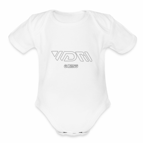 wdm gaming logo - Organic Short Sleeve Baby Bodysuit