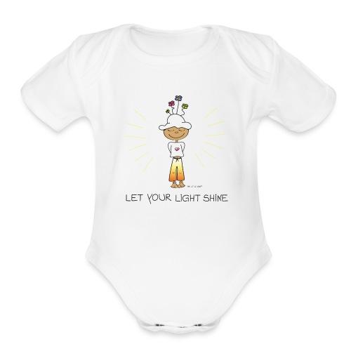 Let your light shine - Organic Short Sleeve Baby Bodysuit