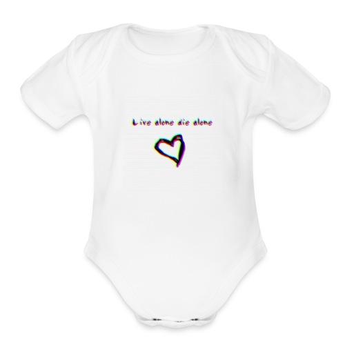 Lil Manny Live Alone Die Alone - Organic Short Sleeve Baby Bodysuit