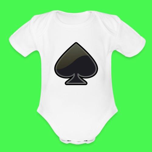 spade-304399_640 - Organic Short Sleeve Baby Bodysuit