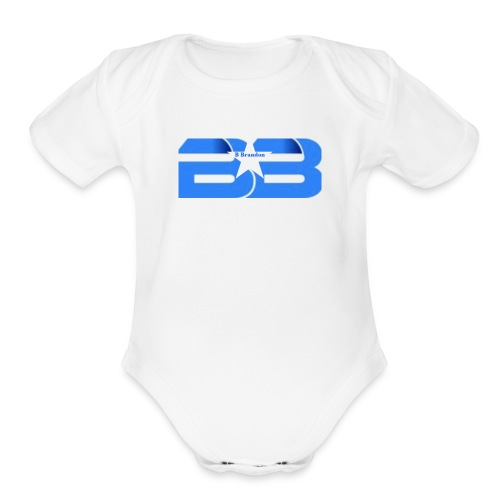 B Brandon Merch Store - Organic Short Sleeve Baby Bodysuit