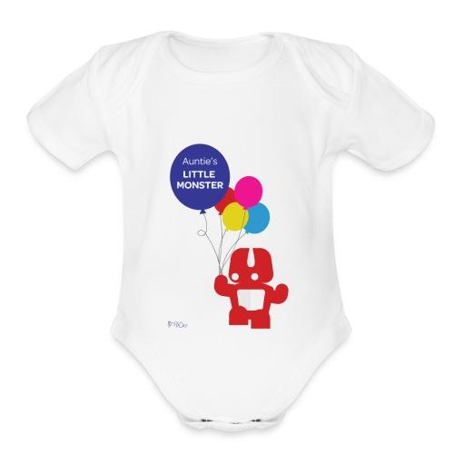 Auntie's Little Monster - Organic Short Sleeve Baby Bodysuit