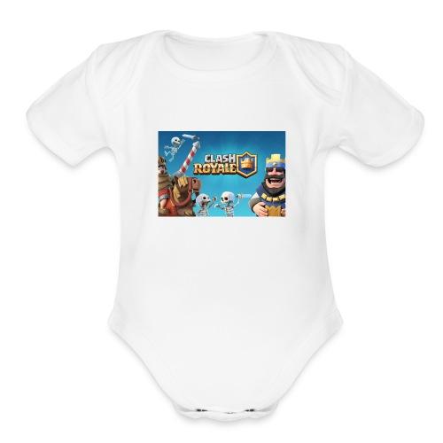 clash-royale - Organic Short Sleeve Baby Bodysuit
