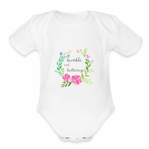 Bumble and Buttercup Little Ones - Organic Short Sleeve Baby Bodysuit