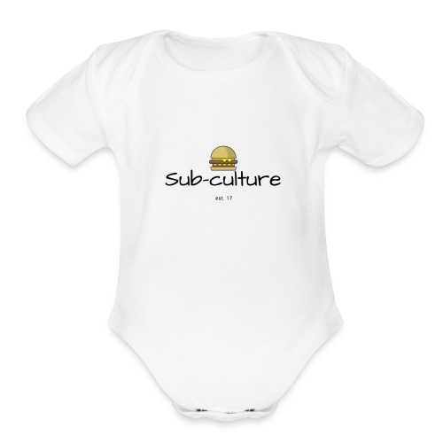Sub-culture burger logo - Organic Short Sleeve Baby Bodysuit