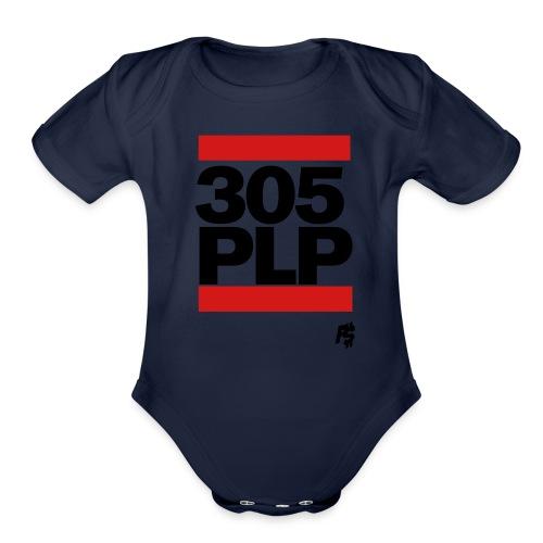 Black 305plp - Organic Short Sleeve Baby Bodysuit