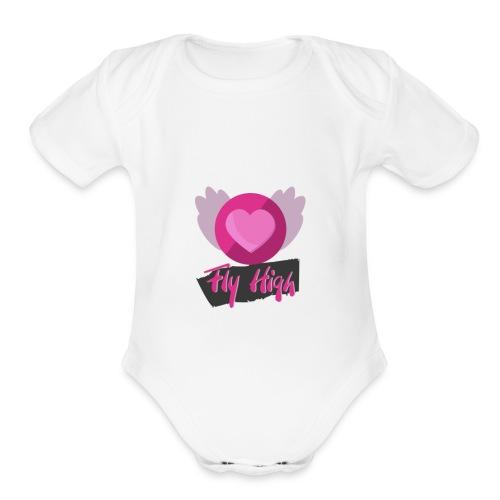 Fly HIGH! - Organic Short Sleeve Baby Bodysuit