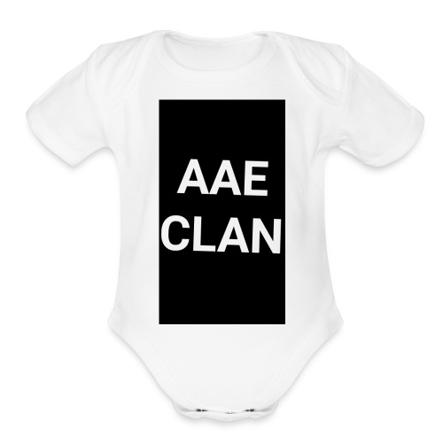 AAE CLAN MERCH - Organic Short Sleeve Baby Bodysuit