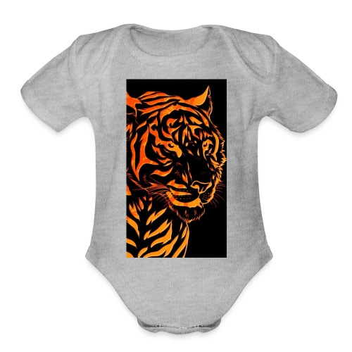 Fire tiger - Organic Short Sleeve Baby Bodysuit