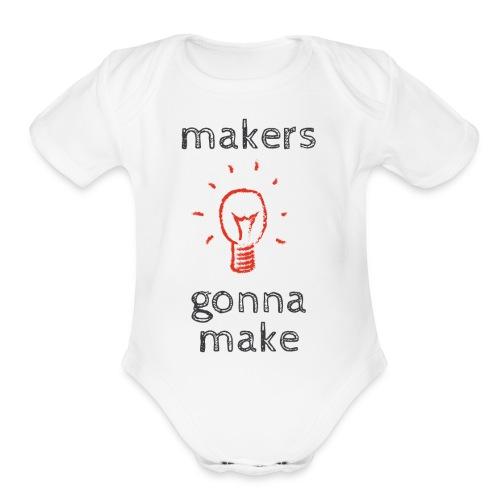 The makers Mark - Organic Short Sleeve Baby Bodysuit