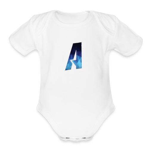 Ace Logo - Organic Short Sleeve Baby Bodysuit