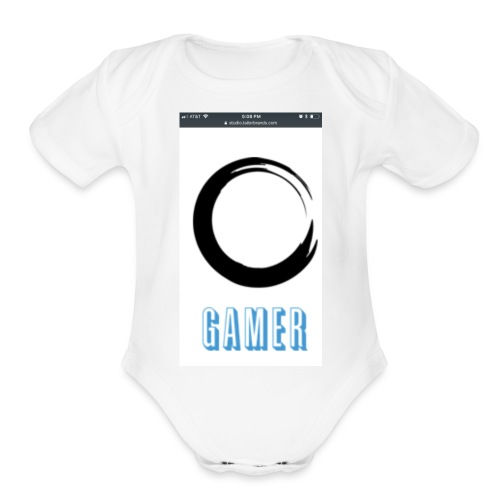 Caedens merch store - Organic Short Sleeve Baby Bodysuit