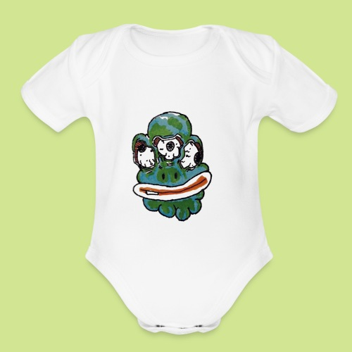 Earth Face - Organic Short Sleeve Baby Bodysuit