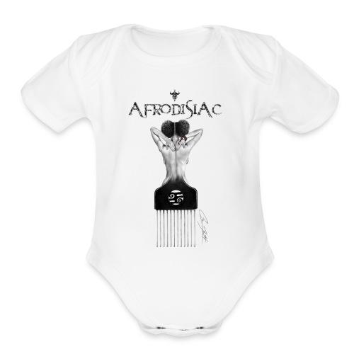 tshirtAfroArtD2 copy - Organic Short Sleeve Baby Bodysuit