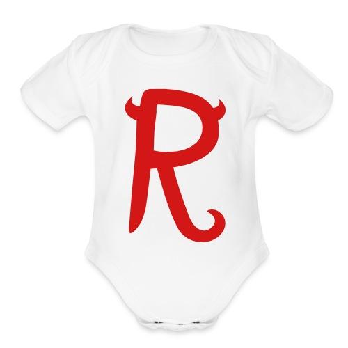R - Organic Short Sleeve Baby Bodysuit