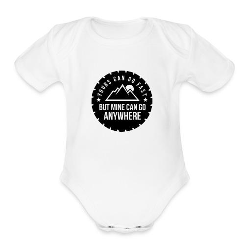 Mine Can Go Anywhere - Organic Short Sleeve Baby Bodysuit