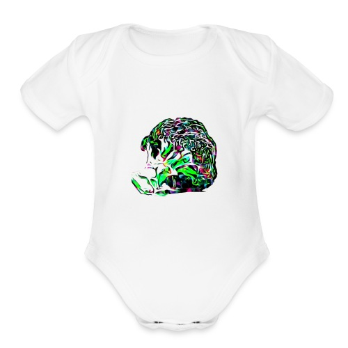 O Kale No - Organic Short Sleeve Baby Bodysuit