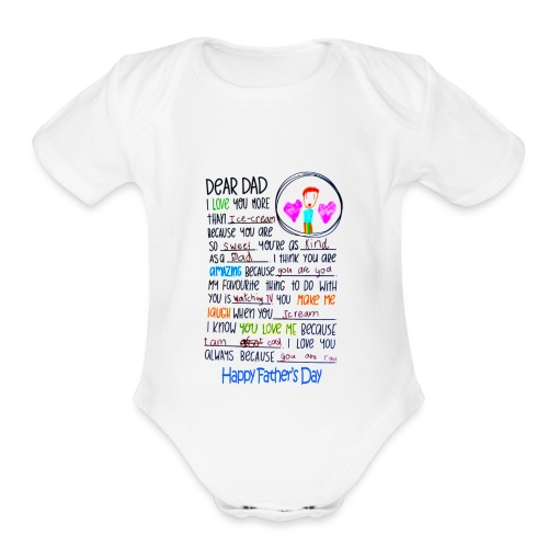 Notre Dame I Love Watching With Daddy Baby Short Sleeve Bodysuit