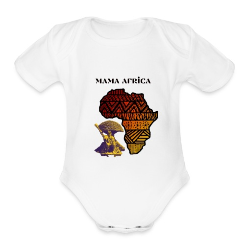 Mama Africa - Organic Short Sleeve Baby Bodysuit