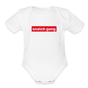 Snatch Gang Merch - Short Sleeve Baby Bodysuit