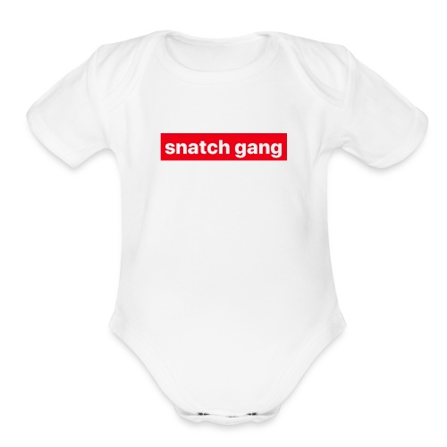 Snatch Gang Merch - Organic Short Sleeve Baby Bodysuit