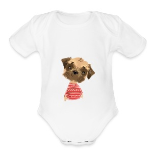 Doggy lover - Short Sleeve Baby Bodysuit