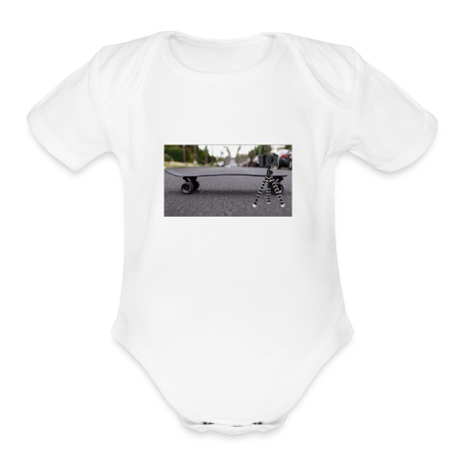 Vlogging central - Organic Short Sleeve Baby Bodysuit