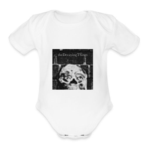the Decaying Things _ Ghetto Goth - Organic Short Sleeve Baby Bodysuit