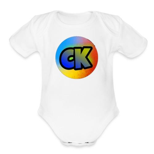 Official Cedar Klutz Logo - Organic Short Sleeve Baby Bodysuit