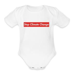 Stop Climate Change - Short Sleeve Baby Bodysuit